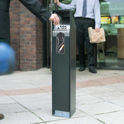 Cigarette Bins & Smoking Shelters