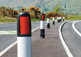 Vergemaster RX passively safe verge marker for Irish highways