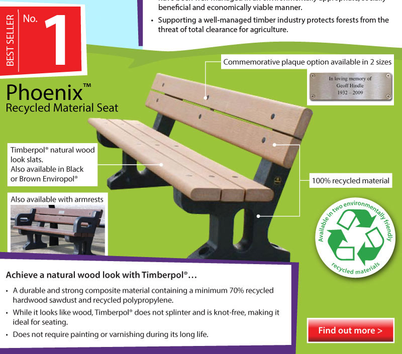 Top 5 Infographic Phoenix™ Recycled Material Seat