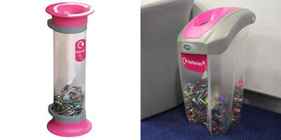 C-Thru™ 5L Battery Recycling Bin & C-Thru Nexus® 30 Battery Recycling Bin