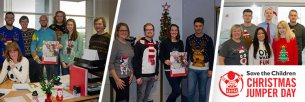 Glasdon staff in festive jumpers for a fantastic cause