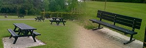 Sustainable Seats and Benches the Natural Choice for Country Park
