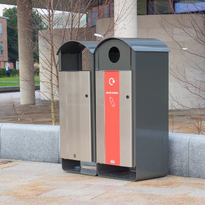Electra Curve Recycling and Litter Bin