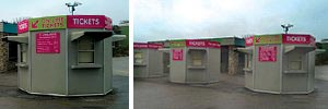 Glasdon Kiosks Stand Out in the Crowds for Flambards... for over 30 years!