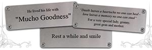 8 Ideas for Your Memorial Bench Plaque