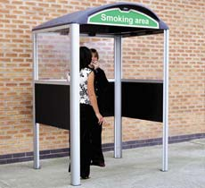 Create a designated smoking area