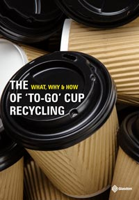 Download the Glasdon eBook - What, Why, How of 'to-go' Cup Recycling Cover