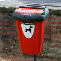 Retriever 50 Dog Waste Bin in Red