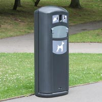 Retriever City Dog Waste Bin in Grey