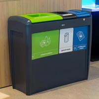 Nexus® Evolution Trio Recycling Bin