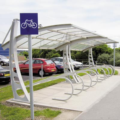 Bi-Port Cycle Shelter - 1