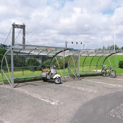 Bi-Store Cycle Shelter - 5