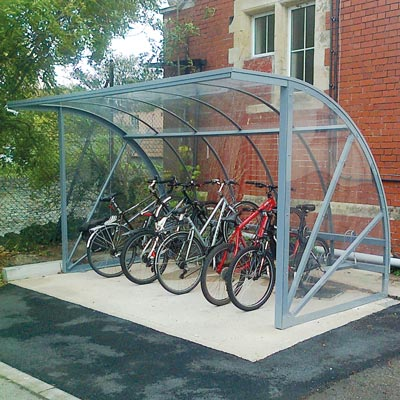 Bi-Store Cycle Shelter - 1