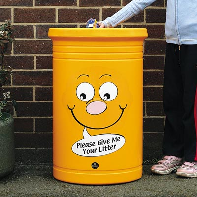 Commodore™ Litter Bin with Billy Bin-it™ Symbol