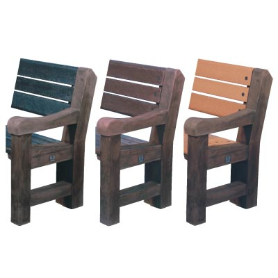 Elwood seat colour options - Dark oak ends