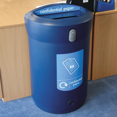 Envoy™ Confidential Paper Recycling Bin - 110ltr