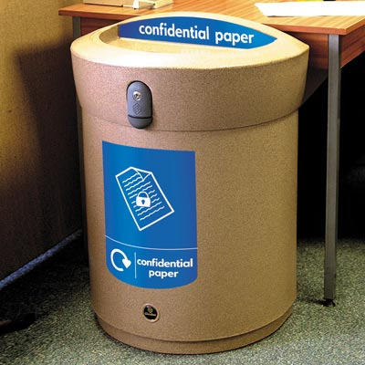 Envoy™ Confidential Paper Recycling Bin - 90ltr