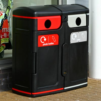 Gemini™ Can / Plastic Bottle Recycling Bin
