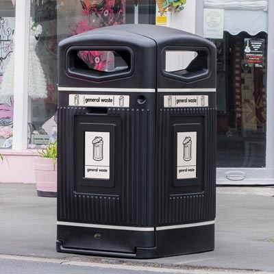 Glasdon Jubilee™ 240 General Waste Wheelie Bin Housing