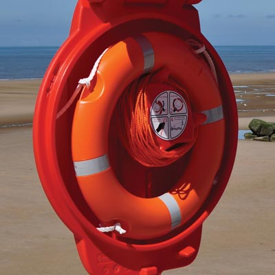 Guardian Lifebuoy Housing with a Glasdon Lifebuoy