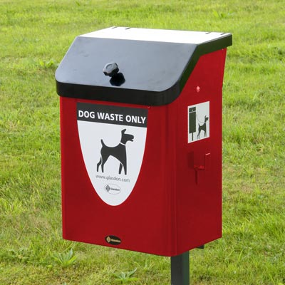 Metal Fido 35™ Dog Waste Bin