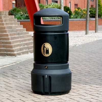 Mini Plaza litter bin Black