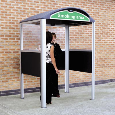 Modus 1280 Smoking Shelter with optional polycarbonate sign