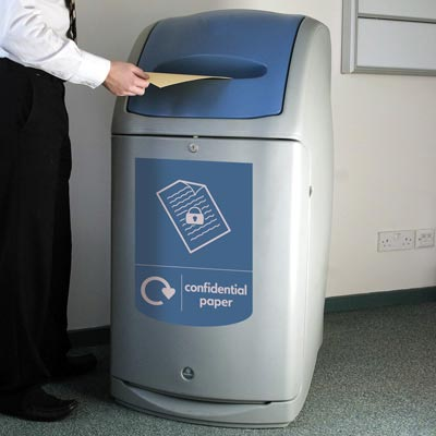 Nexus® 140 Confidential Paper Recycling Bin