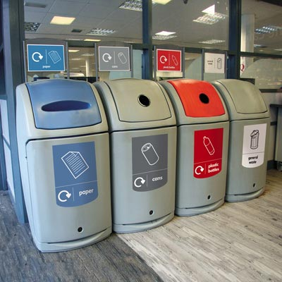 Nexus 140 Office Recycling Point with Sign Kits