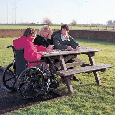 Clifton™ Picnic Table with Wheelchair Access