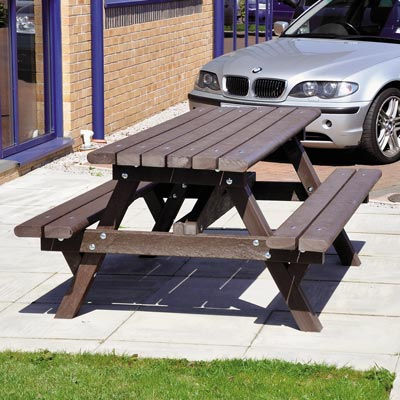 Recycled Material Picnic Table - 1