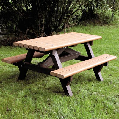 Recycled Material Picnic Table - 2