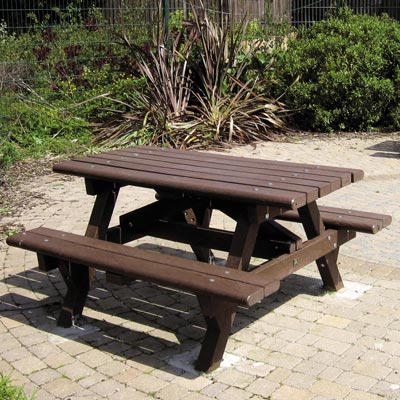 Recycled Material Picnic Table - 4