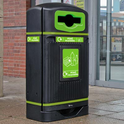 Streamline Jubilee™ Mixed Recyclables Recycling Bin