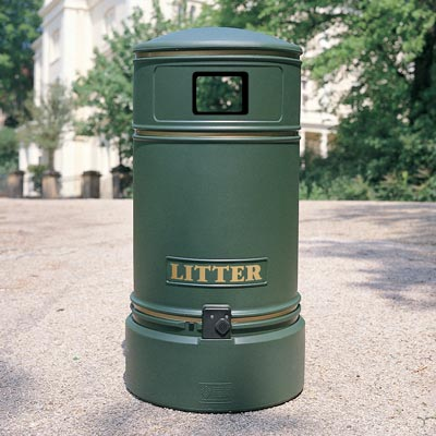 Topsy Jubilee litter bin with optional reduced sized aperture