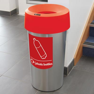 Vista™ Round Plastic Bottle Recycling Bin