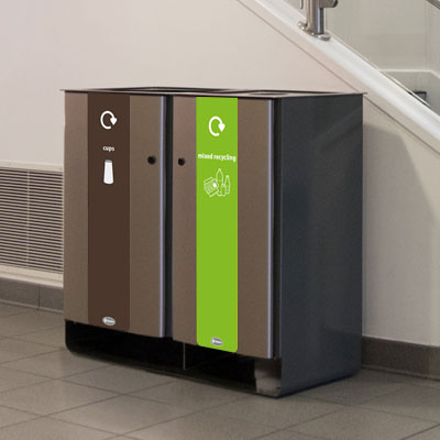 Electra™ 170 Duo Cup Recycling Bin