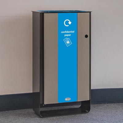 Electra™ 60 Confidential Paper Recycling Bin