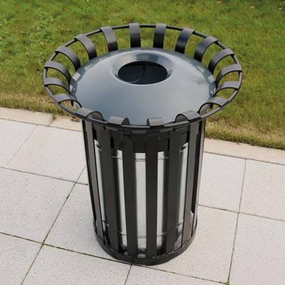 Everglade (85ltr) litter bin with optional dome top