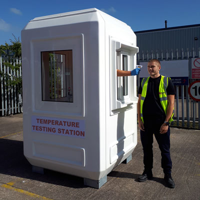 Genesis™ Temperature Checking Station 1.5 x 1.5m Screening Station