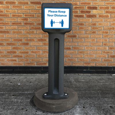 Infomaster™ Portable Sign Bollard Ideal for social distancing signage / COVID-19 Information