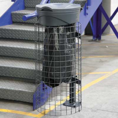 Orbis sack holder with Mesh Cage