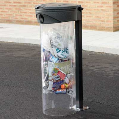 Orbis sack holder with Polycarbonate Shield